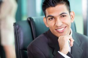 headshot of young Arabian businessman